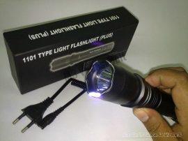 Zseblámpa Police light flashlight közepes  lámpa, Piros pont   (2013)