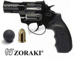 Gáz-riasztó pisztoly Zoraki R1 forgótáras, gumilövedékes, fekete